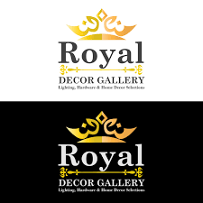 economical personable logo design for royal decor gallery by
