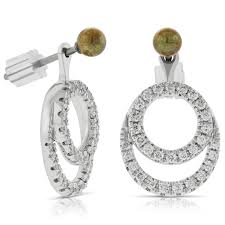 diamond earrings convertible diamond earrings jackets 14k ben bridge jeweler