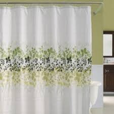 Yellow And White Shower Curtain Black And White Fabric Shower Curtain Foter