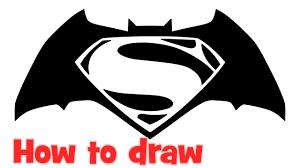 how to draw a batman vs superman logo 28 images batman vs