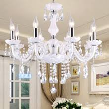 Dining Room Crystal Chandeliers Online Get Cheap White Crystal Chandelier Aliexpress Com