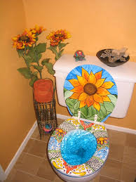 mexican talavera toilet restaurant bathroom bath decor and