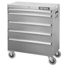 fortress 113270 32 inch wide 5 drawer stainless steel rolling