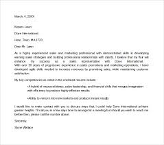 sample marketing cover letter example example cover letters for