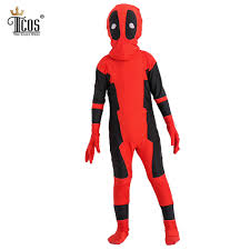 Skins Halloween Costume Aliexpress Com Buy Deadpool Costume For Kids Cosplay Costumes