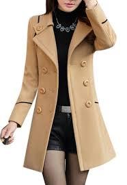 amazon com women u0027s new style winter dress coats slim long woolen