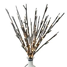 battery lighted willow branches amazon com babali lighted twig branches 20 inches 100 led battery