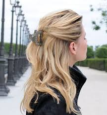 jaw clip easiest way to wear a claw clip and accessories hairstyles