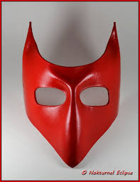 devil mask for halloween red leather mask devil with little horns masquerade ball party