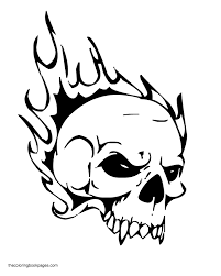 skull coloring pages getcoloringpages