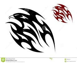 flying birds tattoo designs tribal bird tattoo stock illustration image 48693815