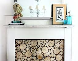 fireplace cover up fireplace cover ideas much prettier than ugly glass doors covering