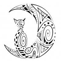 awesome tribal cat face tattoo design tattooimages biz