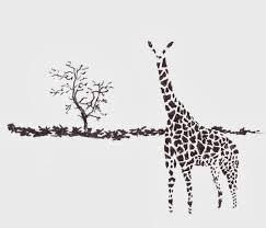 resolution every day pen sketch giraffe