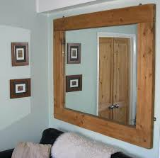 Oak Framed Bathroom Mirror by Wall Mirror Rustic Timber Framed Mirror Details About Large