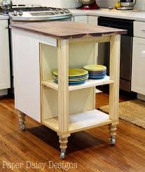 Kitchen Island Cart Plans by Diy Kitchen Island Cart