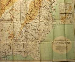 North East United States Map Pennsylvania In Early Pocket Maps