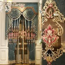 Living Room Curtains With Valance by Online Get Cheap Luxury Curtains Valance Blue Aliexpress Com