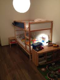 ikea kura double bunk bed extra hidden bed sleeps 3 ikea