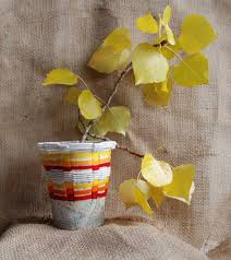 Home Decor Recycled Materials by That Artist Woman Basket Weaving Using Recycled Containers