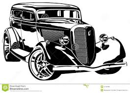 Old Ford Truck Vector - vector retro styled hotrod royalty free stock photos image 4733488