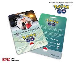 Pokemon Trainer Card Designer Pokemon Go Inspired Trainer Id Card Photo Personalized Pokémon
