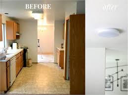 how to update track lighting replace kitchen fluorescent light with can lights track lighting
