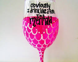 Wine Glass Decorating Ideas Hand Painted Wine Glasses Mermaid Wine Glass Painted Wine