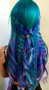 green purple dyed hair color inspiration best hair styles color