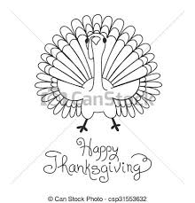 doodle thanksgiving turkey freehand vectors search clip