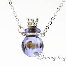 pet urn necklace wholesale glass urn necklace urn necklace charms ashes pendant