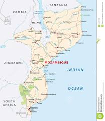 Mozambique Map Mozambique Road Map Stock Vector Image Of Lake Border 47477313