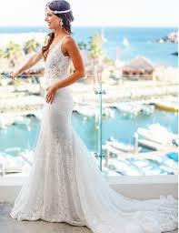 wedding dresses mermaid style buy mermaid style lace v neck court wedding dress