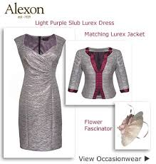 dress and jacket for wedding light purple dress jacket flower fascinator wedding