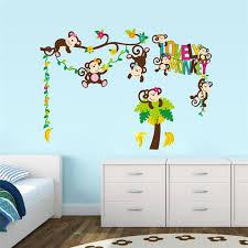 stickers animaux chambre bébé sticker chambre bebe bro stickers muraux pcher arbre et papillons