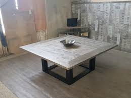 Table Verre Pied Central by
