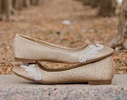 gold shoes for wedding flat wedding shoes etsy
