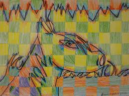 art paper scissors glue warm color cool color weavings