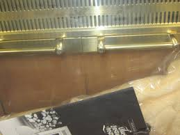 portland willamette glassfyre bi fold polished brass fireplace