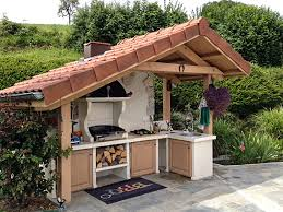 cuisine d exterieure barbecue façon cuisine d été estivale roc de
