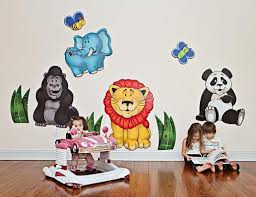 palm tree wall stickers colorful kids rooms