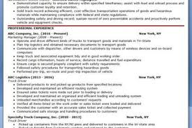 Truck Driving Resume Examples by Truck Driver Resume References Template Reentrycorps