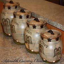 primitive kitchen canisters adorable country classics primitive kitchen canisters ceramic