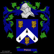 price coat of arms family crest and price family history