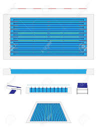swimming pool sizes olympic size swimming pool royalty free cliparts vectors and