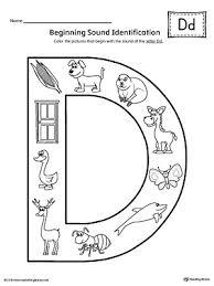 letter d beginning sound color pictures worksheet beginning