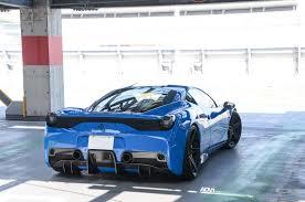Ferrari 458 Matte Black - blue ferrari 458 speciale adv05 m v2 sl adv 1 wheels