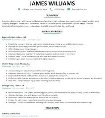 esthetician resume exle resume sle esthetician resume templates summary exles free