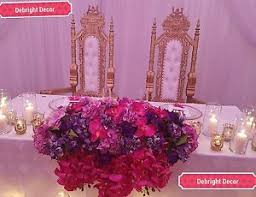 Throne Chairs For Hire King U0026 Queen Large Wedding Throne Chairs Gold For Hire Only Ebay