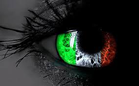 amazing irish flag in eyes hd wallpaper for desktop background